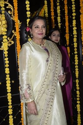 Mumbai: Actress Shabana Azmi during a Diwali party hosted by Ekta Kapoor at her residence in Juhu, Mumbai on Nov 6, 2018. (Photo: IANS)
