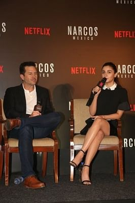 Mumbai: Actress Alia Bhatt and producer Eric Newman during a special panel discussion hosted by Netflix in Mumbai on Nov 12, 2018. (Photo: IANS)