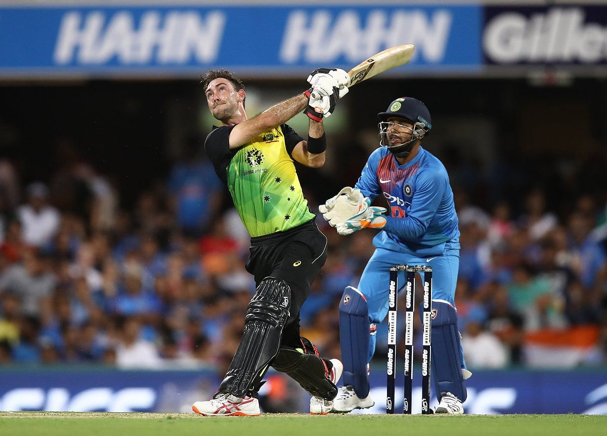 Glenn Maxwell top-scored for Australia, hitting four sixes in his 24-ball 46