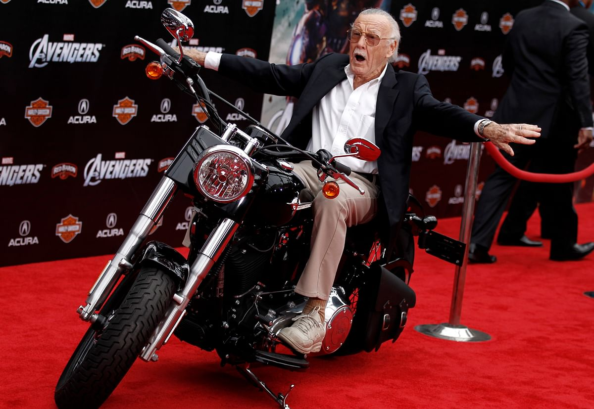 """Stan Lee at the premiere of """"The Avengers"""" in Los Angeles."""