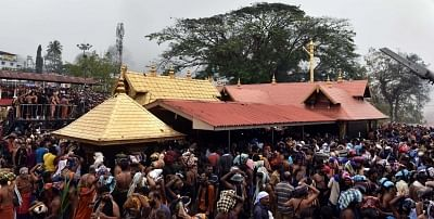 It could well be the first time in the history of the Lord Ayyappa Sabarimala temple that the nearly-two-month-long festival season is opening amidst such grave uncertainty. (Photo: IANS)