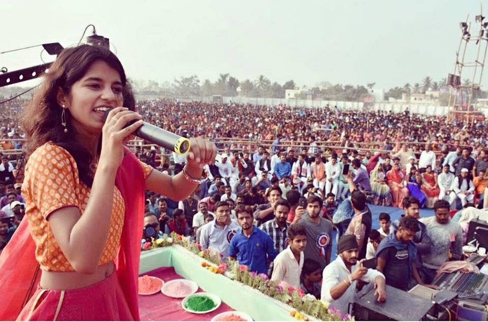 Maithli at a show.