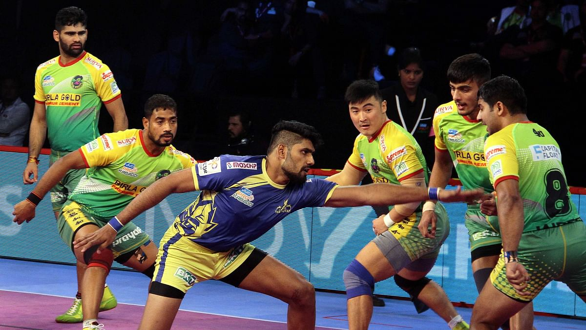 Jasvir Singh got Tamil Thalaivas back in the match with a two-point raid in the 29th minute.