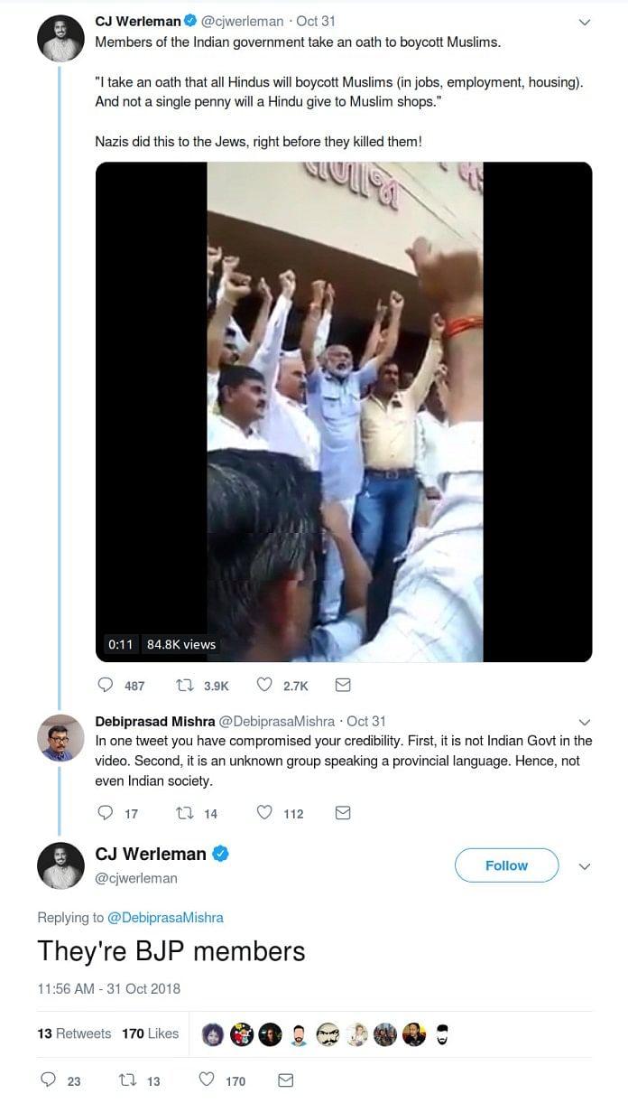 Did Gujarat Govt Officials Pledge to Boycott Muslim-Owned Shops?
