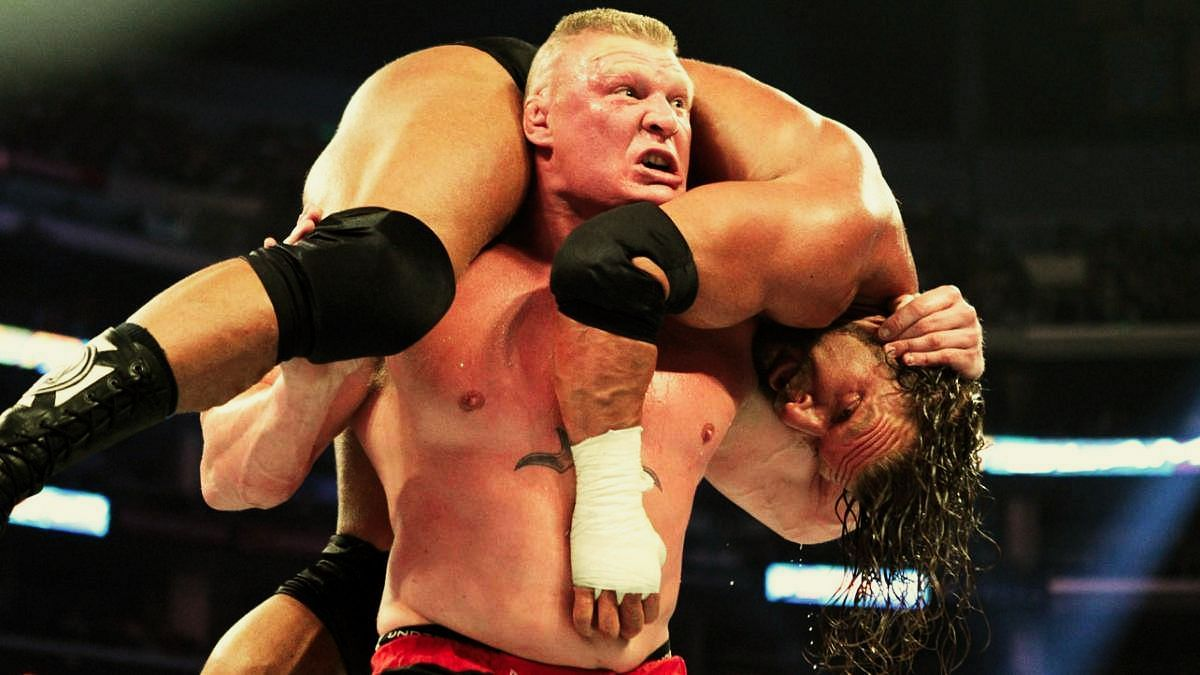 Brock Lesnar in action.