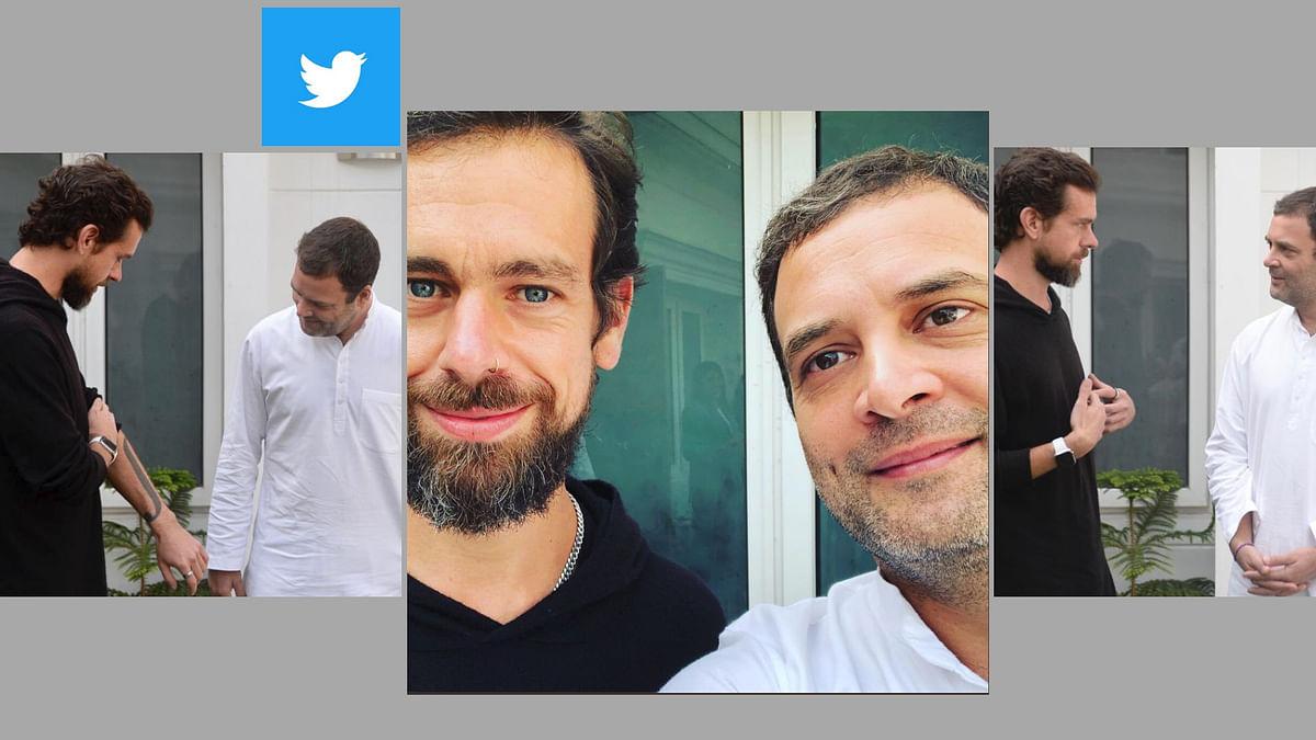 Rahul Gandhi and Twitter CEO Jack Dorsey.