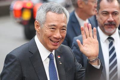 Singaporean Prime Minister Lee Hsien Loong. (Xinhua/Zheng Huansong/IANS)