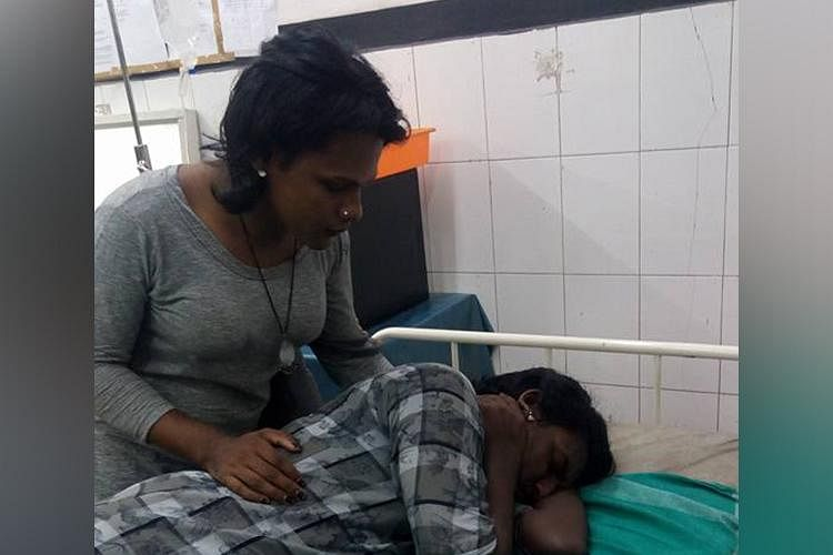 Sajana looks after Rana at a hospital in Ernakulam.