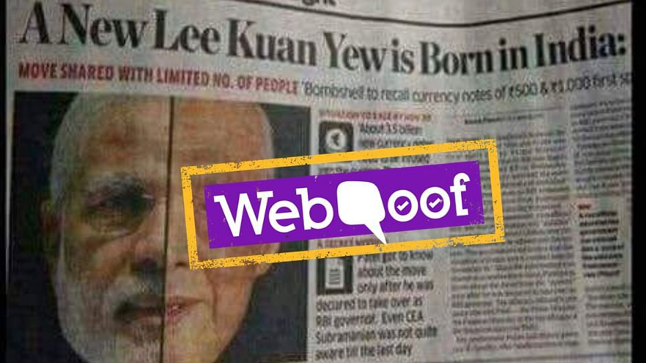 No, a Singaporean Newspaper Did Not Compare Lee Kuan Yew to Modi