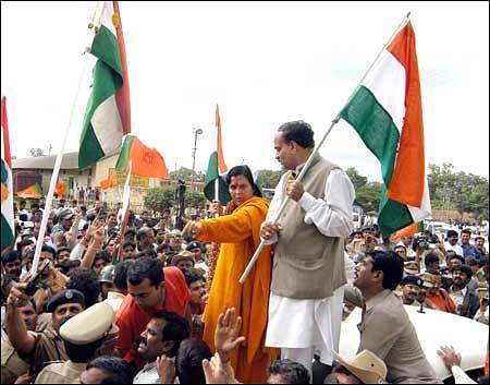 Ananth Kumar during Idgah Maidan protests.