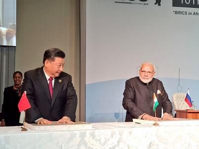 Prime Minister Narendra Modi and Chinese President Xi Jinping. (Photo: IANS/MEA)