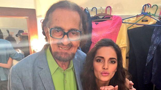 Alyque Padamsee seen here with daughter Shazahn Padamsee.