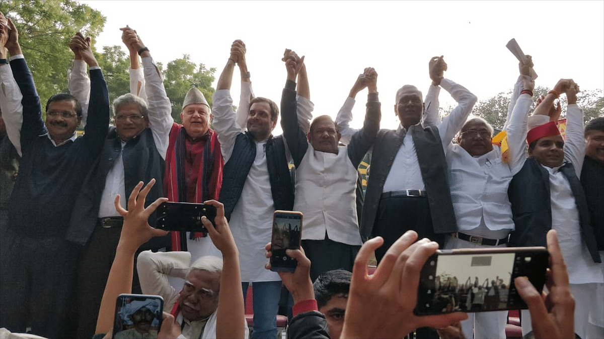 Opposition leaders unite as Kisan Mukti March