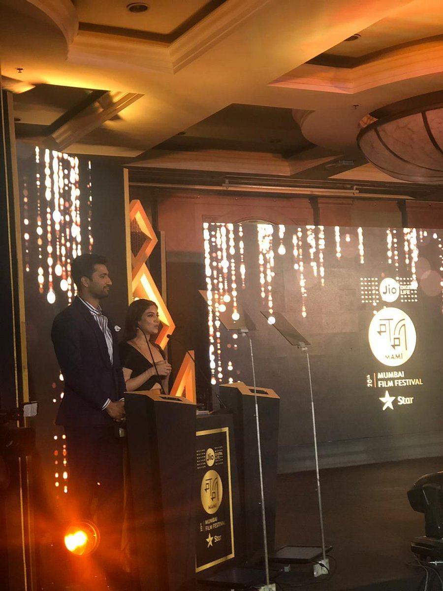 Bhumi Pednekar and Vicky Kaushal hosting the closing ceremony