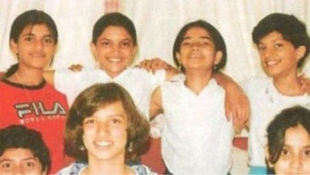 Deepika with her school friends.