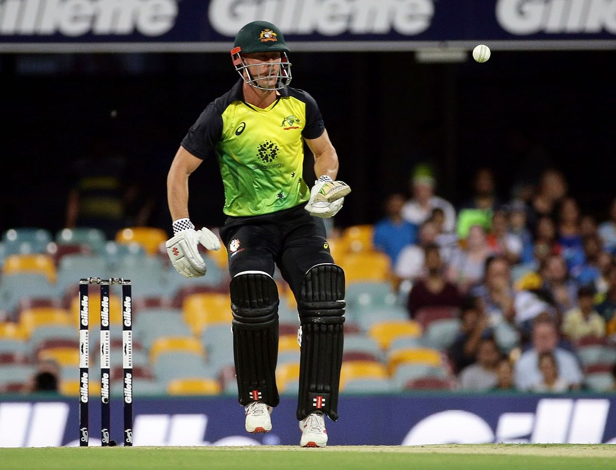 Chris Lynn hit four sixes in a 20-ball stay at the crease to lift Australia after a slow start