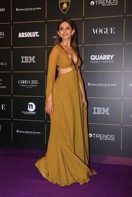 Mumbai: Actress Rakul Preet Singh at The Vogue Women Of The Year Awards 2018, in Mumbai on Oct 27, 2018. (Photo: IANS)
