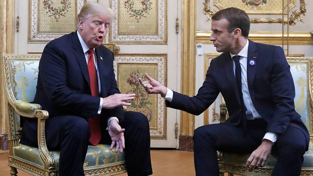US President Donald Trump and French President Emmanuel Macron. Representative photo.