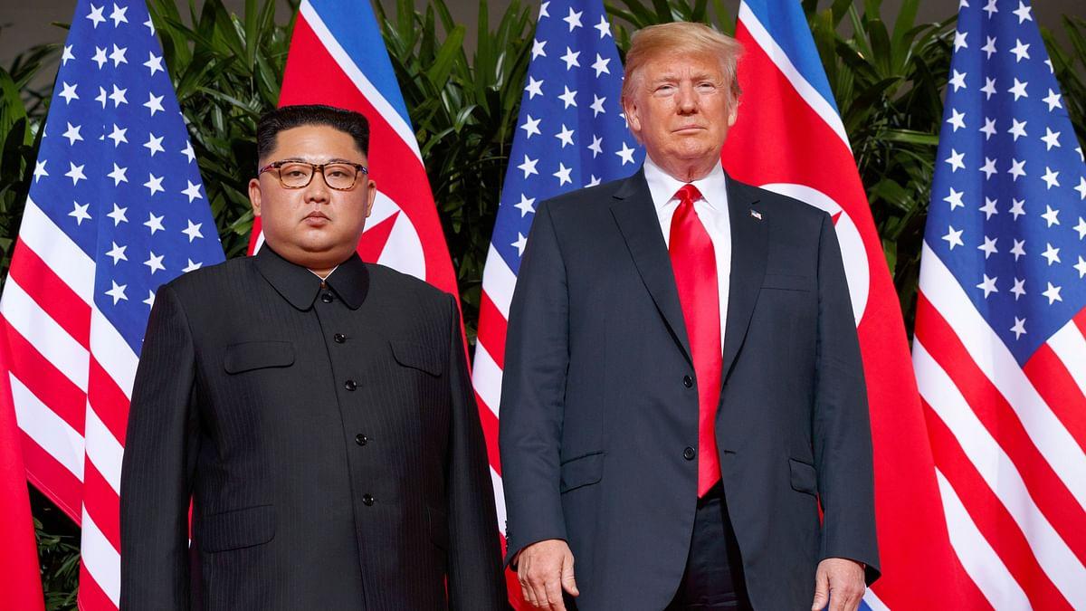 US President Donald Trump with North Korean leader Kim Jong-un.