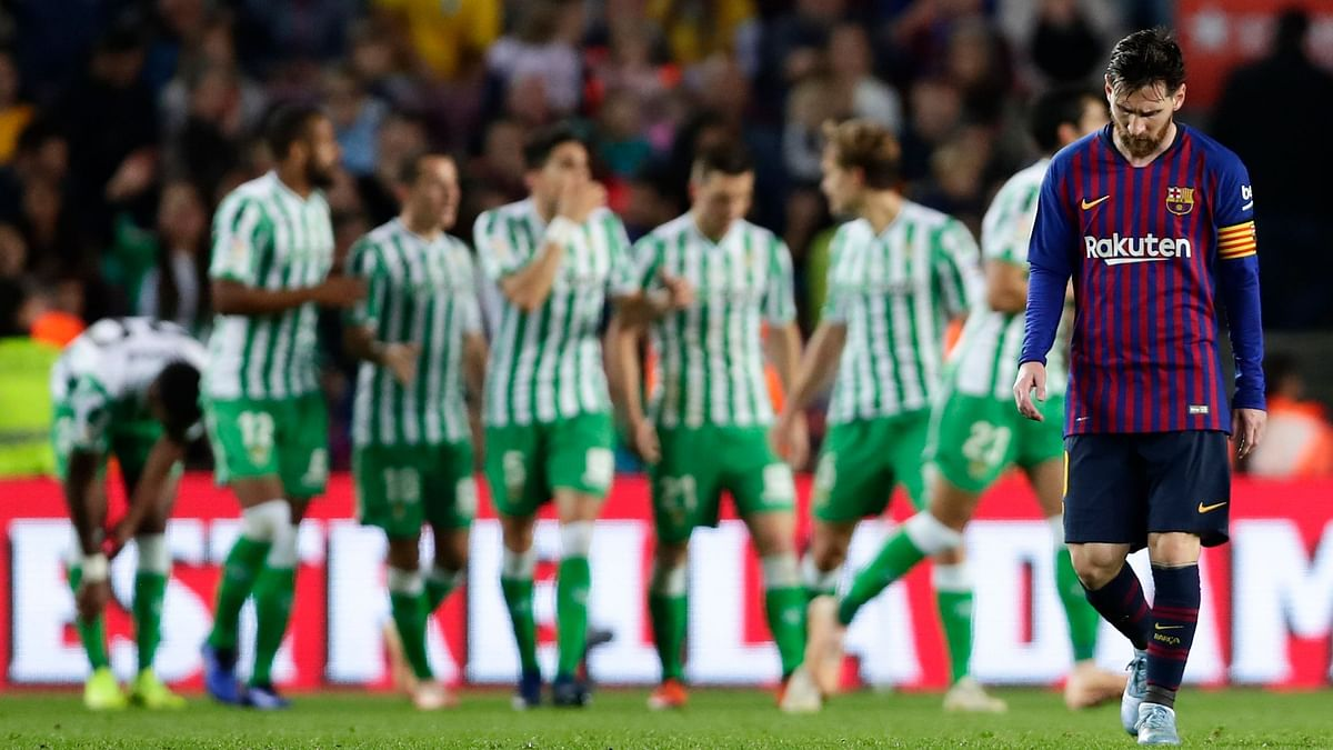 Lionel Messi's double couldn't prevent Barcelona from going down 4-3 to Real Betis