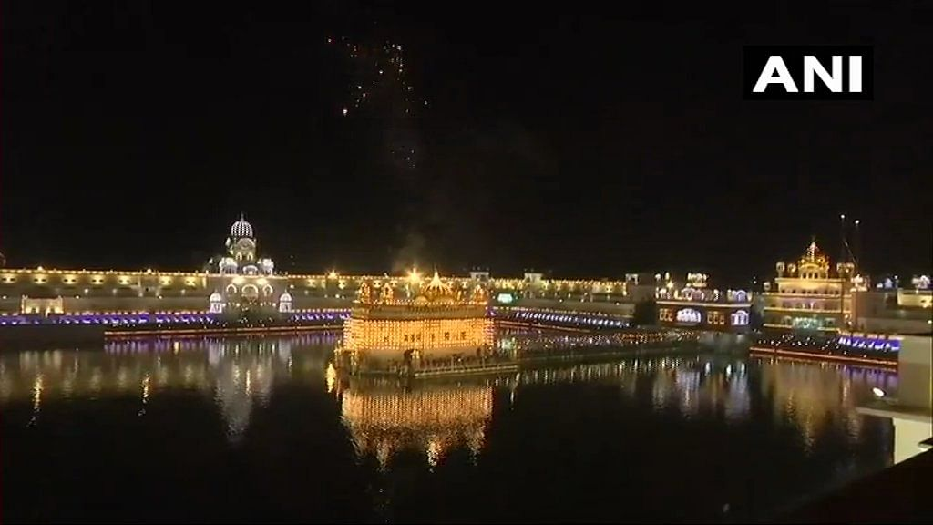 Golden Temple in Amritsar was lit up on Bandi Chhor Divas.