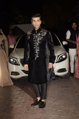 Mumbai: Filmmaker Karan Johar at the Diwali party hosted by actress Shilpa Shetty in Mumbai on Nov 4, 2018. (Photo: IANS)