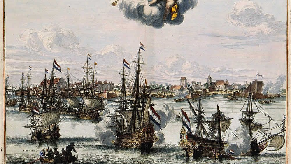The capture of Kochi and victory of the Dutch V.O.C. over the Portuguese in 1656, on the coast of Malabar.