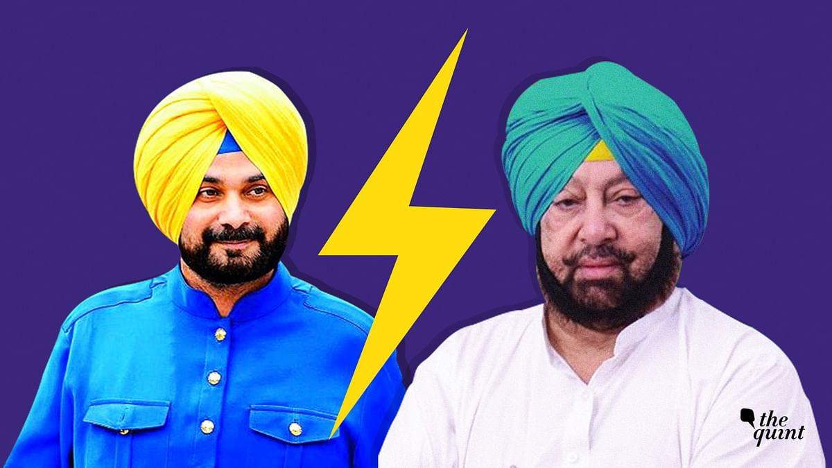 Navjot Singh Sidhu (L), Capt Amarinder Singh (R). Image used for representational purposes.