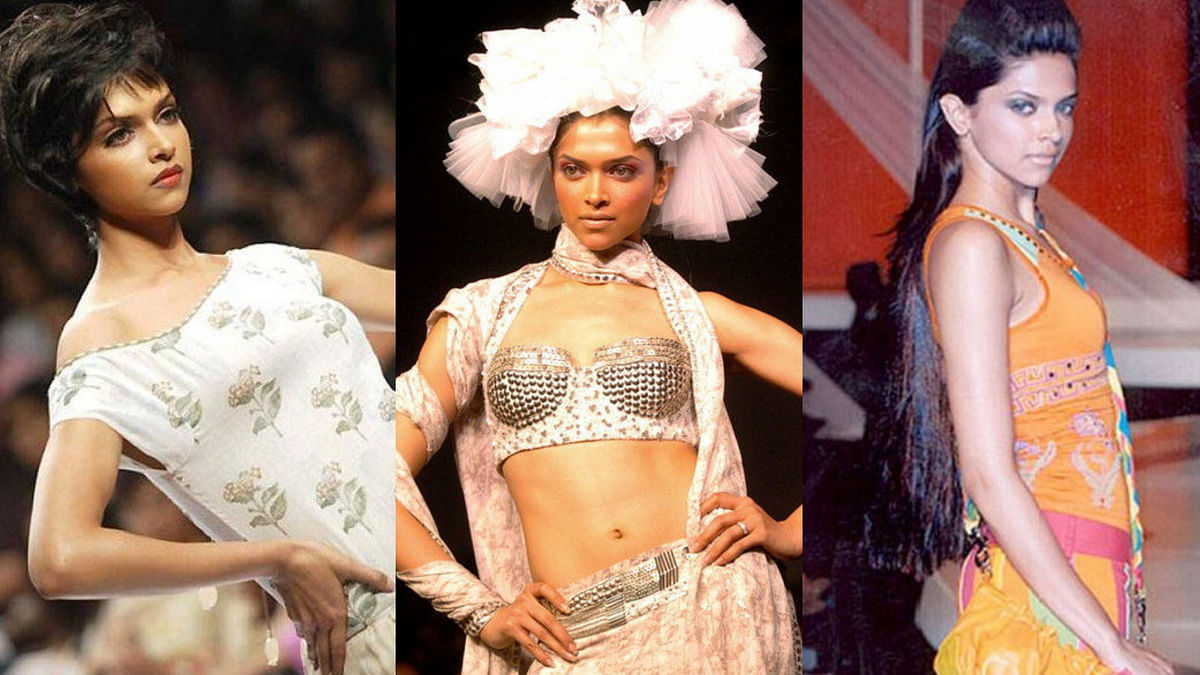 Deepika Padukone when she first started walking the ramp.