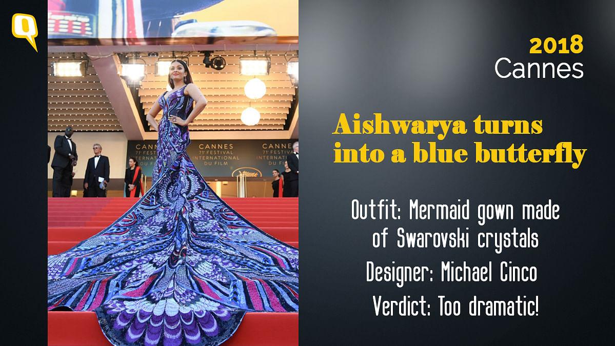 Cannes 2018: Aishwarya Rai Bachchan turns into a butterfly.