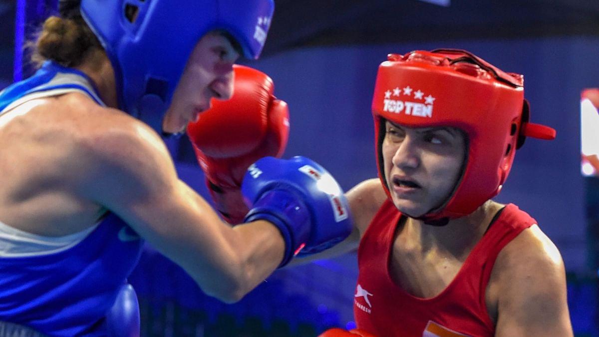 Pinki Rani fights against Anush Grigoryan in the World Boxing Championship.