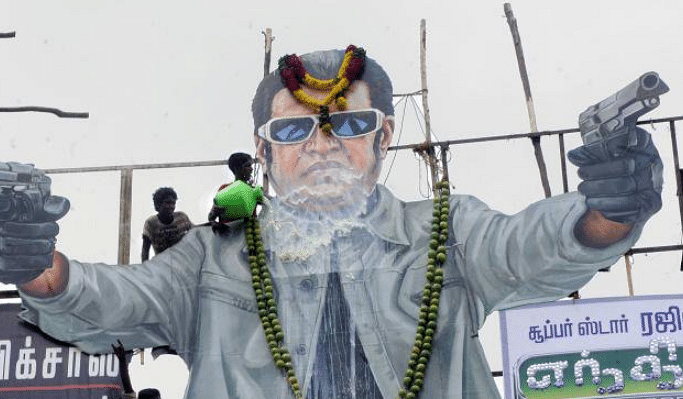 Tamil cinema's big super heroes like Rajinikanth, Vijay and Ajith always have early morning shows mostly fan shows, where cut-outs of the actors receive paal abhishekam (milk bath) with cracker bursting (especially during Diwali).