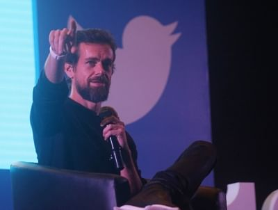 "New Delhi: Twitter Co-founder and CEO Jack Dorsey addresses the students of IIT Delhi at the launch of a ""youth initiative"" on Nov 12, 2018. (Photo: IANS)"