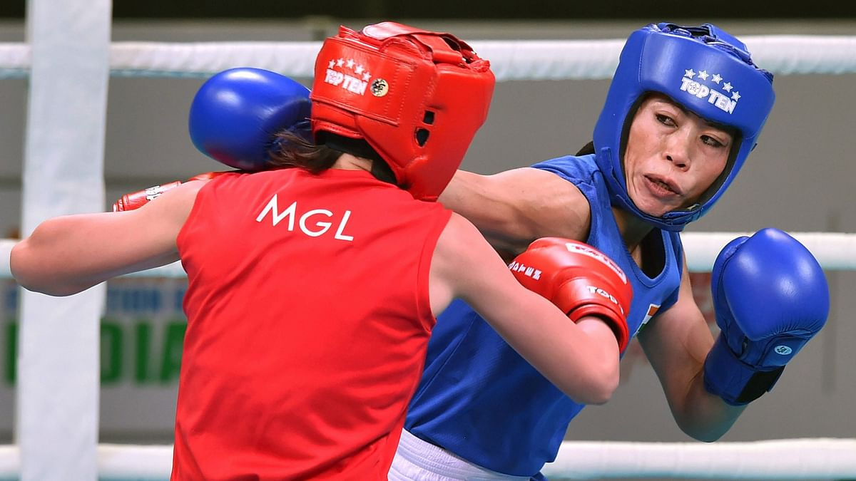 Mary Kom in action.