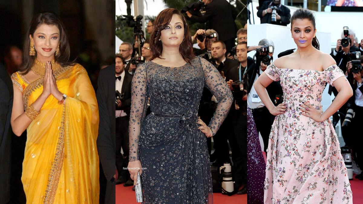 Aishwarya Rai Bachchan on the Cannes red carpet.