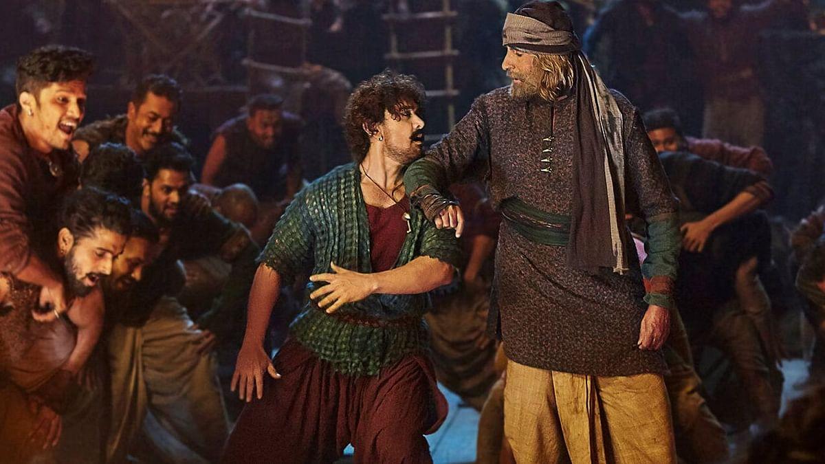 Aamir Khan and Amitabh Bachchan in <i>Thugs of Hindostan</i>.