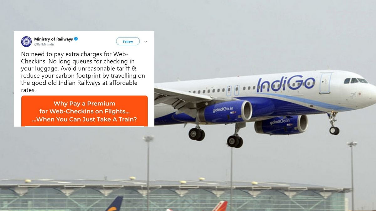 'Why Pay For Web Check-ins?' Indian Railways Takes Dig at IndiGo