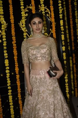 Mumbai: Actress Mouni Roy during a Diwali party hosted by Ekta Kapoor at her residence in Juhu, Mumbai on Nov 6, 2018. (Photo: IANS)