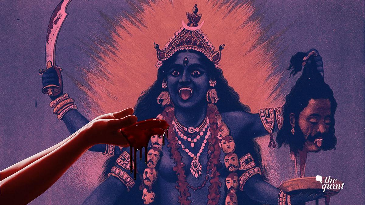 Raja Ravi Verma's portrayal of Kali used for representational purpose.
