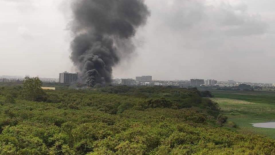 Smoke Billowing Near Bellandur Lake in Bengaluru Worries Residents