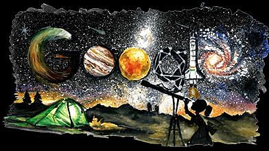 Stars, Planets & More: Google Doodle Celebrates Space Exploration
