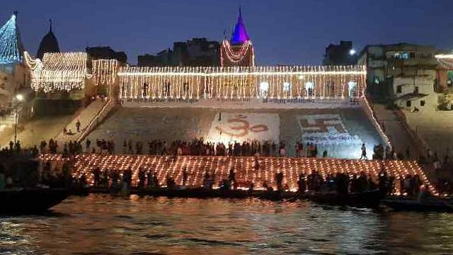 In Pics: On Dev Diwali, Varanasi Lights Up With Diyas & Laser Show