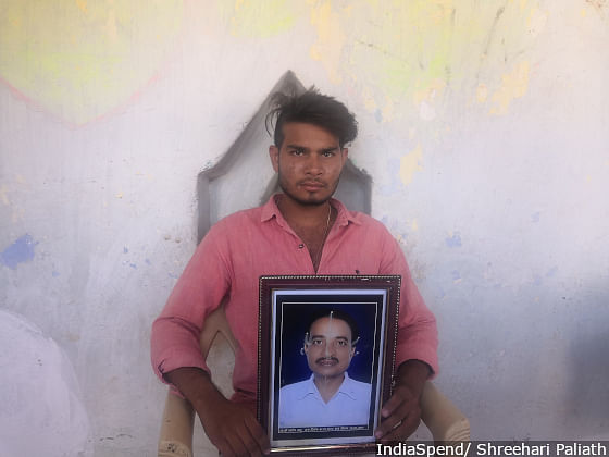 Vikas Sahu, 21, was promised a job in the police department by the politicians when his farmer father, Santosh Sahu, committed suicide in Dehri village of Kawardha. But the promise was not fulfilled, he said.