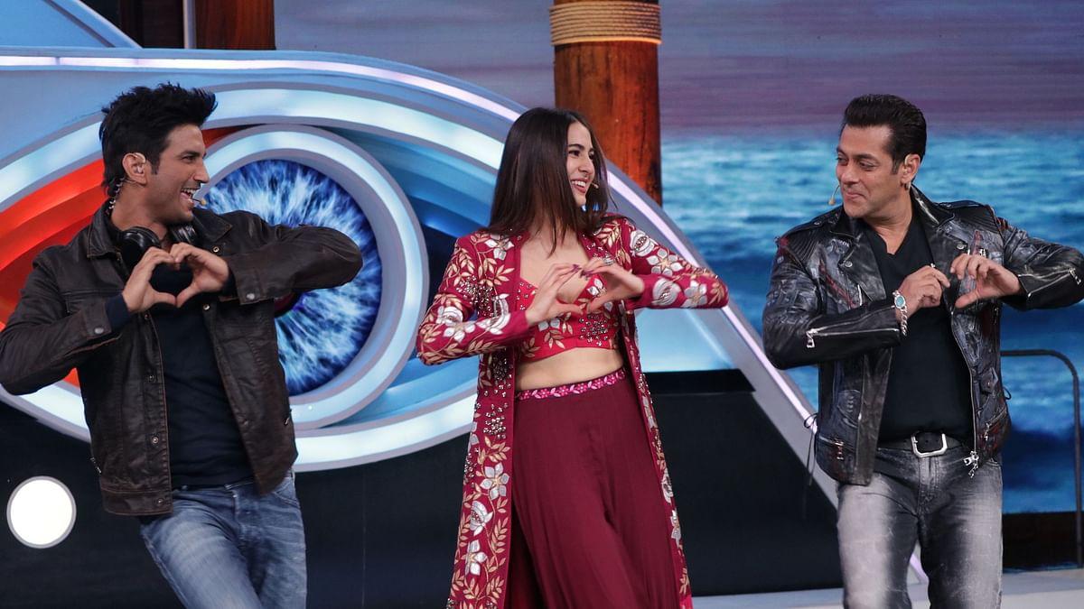 Sara Ali Khan and Sushant Singh Rajput liven things up at the <i>Bigg Boss </i>house<i>.</i>