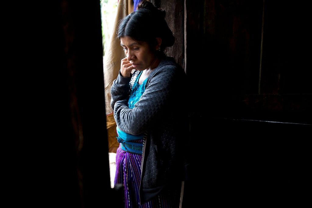 Catarina Alonzo Perez, mother of the second Guatemalan child this month to die while in U.S. custody, stands in her kitchen in Yalambojoch, Guatemala on 29 December 2018.