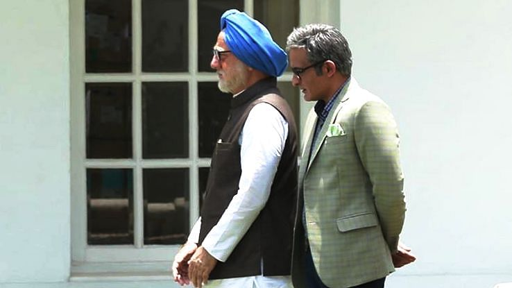 Anupam Kher and Akshaye Khanna feature in <i>The Accidental Prime Minister.</i>