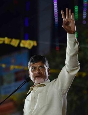 TDP leader and Andhra Pradesh Chief Minister N. Chandrababu Naidu. (Photo: IANS)