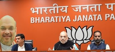 New Delhi: BJP Chief Amit Shah addresses a press conference at the party headquarters in New Delhi on Dec 7, 2018. (Photo: IANS)
