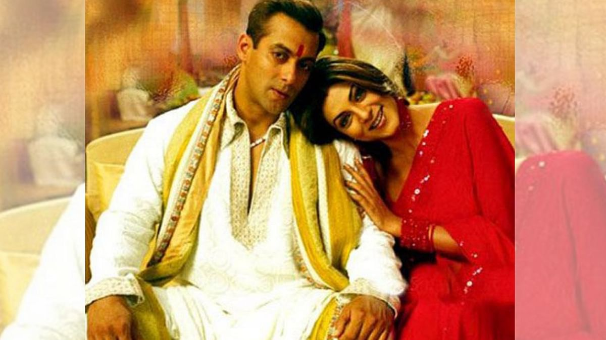 Salman Khan and Sushmita Sen in a still from <i>Maine Pyaar Kyun Kiya</i>.