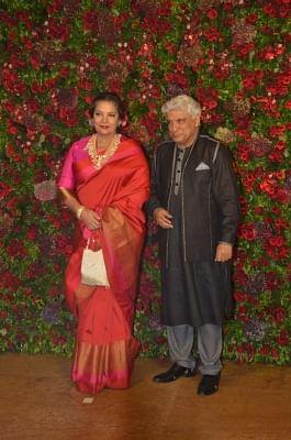 Shabana Azmi and her husband screenwriter and lyricist Javed Akhtar. (Photo: IANS)